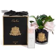 Cote Noire - English Pink Rose Bouquet In Black Jar