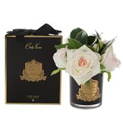 Cote Noire - French Blush Rose Bouquet In Black Jar