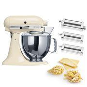KitchenAid - KSM150 Almond Cream Mixer w/Pasta Set