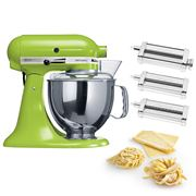 KitchenAid - KSM150 Apple Green Mixer w/Pasta Set