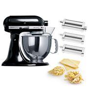 KitchenAid - KSM150 Black Mixer w/Pasta Set