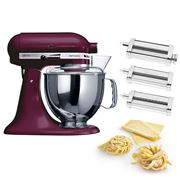KitchenAid - KSM150 Boysenberry Mixer w/Pasta Set