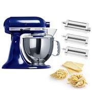 KitchenAid - KSM150 Cobalt Blue Mixer w/Pasta Set