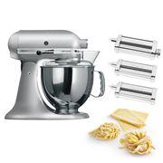 KitchenAid - KSM150 Contour Silver Mixer w/Pasta Set