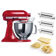 KitchenAid - KSM150 Empire Red Mixer w/Pasta Set