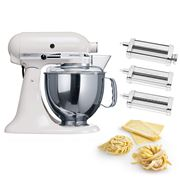 KitchenAid - KSM150 White Mixer w/Pasta Set
