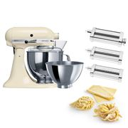 KitchenAid - KSM160 Almond Stand Mixer w/Pasta Set