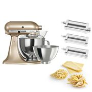 KitchenAid - KSM160 Champagne Gold Mixer w/Pasta Set