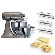 KitchenAid - KSM160 Cocoa Silver Mixer w/Pasta Set