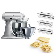 KitchenAid - KSM160 Contour Silver Mixer w/Pasta Set