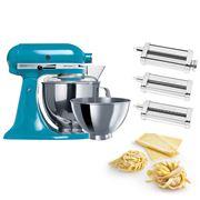 KitchenAid - KSM160 Crystal Blue Mixer w/Pasta Set