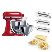 KitchenAid - KSM160 Empire Red Mixer w/Pasta Set