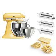 KitchenAid - KSM160 Maj. Yellow Mixer w/Pasta Set
