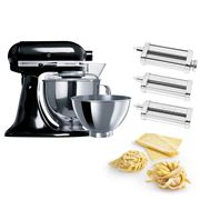 KitchenAid - KSM160 Onyx Black Mixer w/Pasta Set