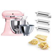 KitchenAid - KSM160 Pink Stand Mixer w/Pasta Set
