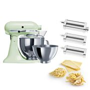 KitchenAid - KSM160 Pistachio Mixer w/Pasta Set