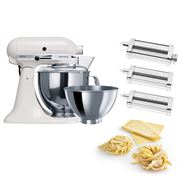 KitchenAid - KSM160 White Stand Mixer w/Pasta Set