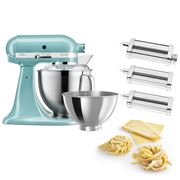 KitchenAid - KSM177 Azure Blue Mixer w/Pasta Set