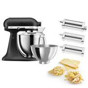 KitchenAid - KSM177 Cast Iron Blk Mixer w/Pasta Set