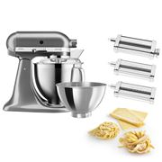 KitchenAid - KSM177 Medal. Silver Mixer w/Pasta Set