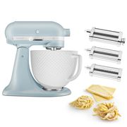 KitchenAid - KSM180 100 Year M/Blue Retro Mixer w/Pasta Set