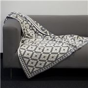 Jenny Mclean - Claremont Knitted Throw Grey 127x152cm