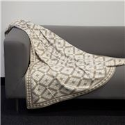 Jenny Mclean - Claremont Knitted Throw Stone 127x152cm
