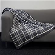 Jenny Mclean- Tricote Knitted Throw Charcoal 127x152cm