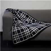 Jenny Mclean- Tricote Knitted Throw Navy 127x152cm