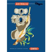 La Brocante - Qantas Koalas Greeting Card