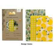 Queen B - Assorted Beeswax Wrap Set Colours 3pce