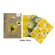 Queen B - Beeswax Wrap Set Colours Medium 3pce