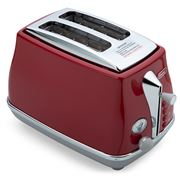 DeLonghi - Icona Capitals 2 Slice Toaster CTOC2003 T. Red