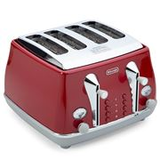 DeLonghi - Icona Capitals Four Slice Toaster CTOC4003 T. Red