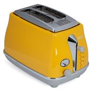 DeLonghi - Icona Capitals 2 Slice Toaster CTOC2003Y Yellow
