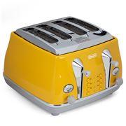 DeLonghi - Icona Capitals 4 Slice Toaster CTOC4003Y Yellow
