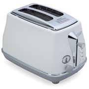 DeLonghi - Icona Capitals Two Slice Toaster CTOC2003 S White