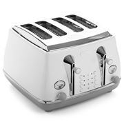 DeLonghi - Icona Capitals Four Slice Toaster CTOC4003 S. Wht