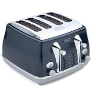 DeLonghi - Icona Capitals Four Slice Toaster CTOC4003 L Blue