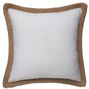 Paloma - Jute Linen Cushion White 50x50cm