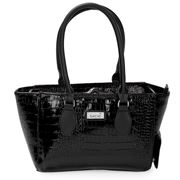 Sachi - Wine Cask Tote Crocodile Black