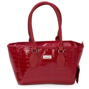 Sachi - Wine Cask Tote Crocodile Red