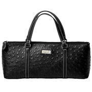 Sachi - Insulated Wine Purse Ostrich Black