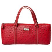 Sachi - Insulated Wine Purse Ostrich Red