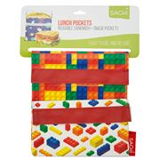 Sachi - Lunch Pockets Set Bricks 2pce