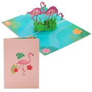 Colorpop - Flamingos Greeting Card Pink