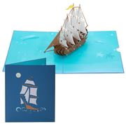 Colorpop - Spanish Galleon Ship Greeting Card