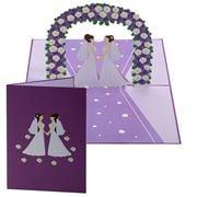Colorpop - Wedding Day Brides Purple 3D Pop Up Card