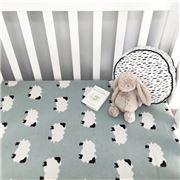Floressents - Cotton Knitted Baby Blanket Sheep Blue