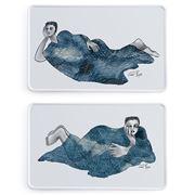 Carrol Boyes - Indigo Girl Rectangle Platter Set 2pce